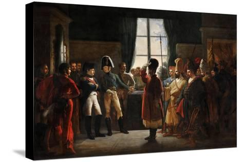 Tsar Alexander I Presenting the Kalmyks, Cossacks and Bashkirs of Russian Army to Napoleon I-Pierre-nolasque Bergeret-Stretched Canvas Print