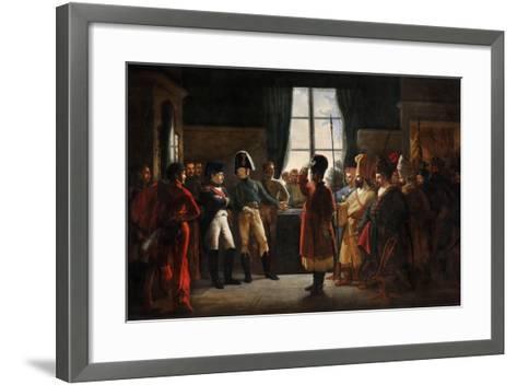 Tsar Alexander I Presenting the Kalmyks, Cossacks and Bashkirs of Russian Army to Napoleon I-Pierre-nolasque Bergeret-Framed Art Print