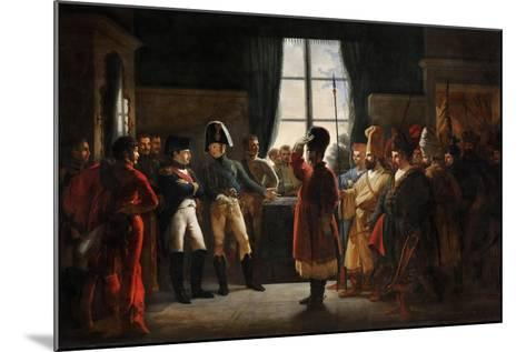 Tsar Alexander I Presenting the Kalmyks, Cossacks and Bashkirs of Russian Army to Napoleon I-Pierre-nolasque Bergeret-Mounted Giclee Print