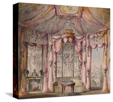 Interior Design for the Boudoir in the Count Bezborodko House in Moscow, 1790S-Nikolai Alexandrovich Lvov-Stretched Canvas Print