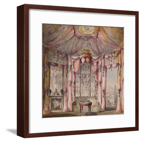 Interior Design for the Boudoir in the Count Bezborodko House in Moscow, 1790S-Nikolai Alexandrovich Lvov-Framed Art Print