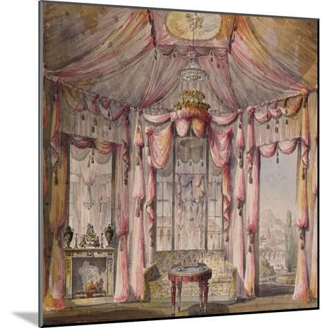 Interior Design for the Boudoir in the Count Bezborodko House in Moscow, 1790S-Nikolai Alexandrovich Lvov-Mounted Giclee Print