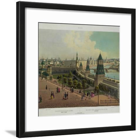 The Moscow Orphanage (From a Panoramic View of Moscow in 10 Part), Ca 1848-Philippe Benoist-Framed Art Print