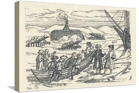 Barents in the Arctic: Hut Wherein We Wintered, 1912-Gerrit de Veer-Stretched Canvas Print
