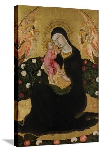 The Virgin and Child with Angels (Madonna of Humilit), Mid of the 15th C-Sano di Pietro-Stretched Canvas Print
