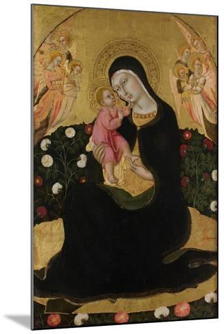 The Virgin and Child with Angels (Madonna of Humilit), Mid of the 15th C-Sano di Pietro-Mounted Giclee Print