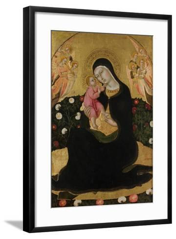 The Virgin and Child with Angels (Madonna of Humilit), Mid of the 15th C-Sano di Pietro-Framed Art Print