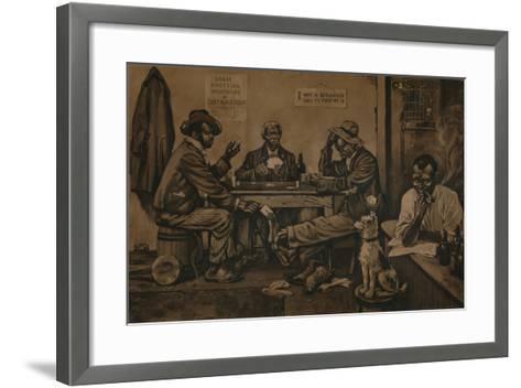 Skinning the Lamb, C1910--Framed Art Print