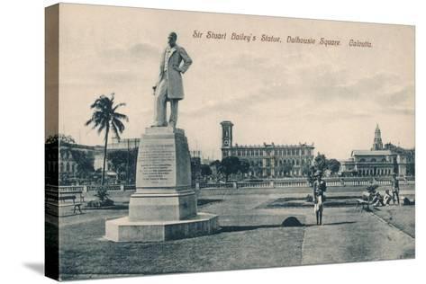 Sir Stuart (Steuar) Bailey's Statue, Dalhousie Square, Calcutta, C1910--Stretched Canvas Print