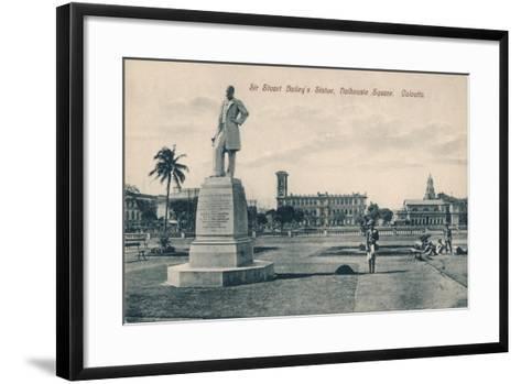 Sir Stuart (Steuar) Bailey's Statue, Dalhousie Square, Calcutta, C1910--Framed Art Print