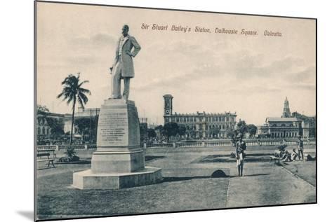 Sir Stuart (Steuar) Bailey's Statue, Dalhousie Square, Calcutta, C1910--Mounted Giclee Print