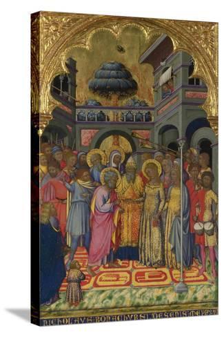 The Marriage of the Virgin, Ca 1380-Niccolò di Bonaccorso-Stretched Canvas Print