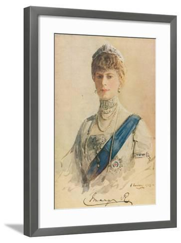 Her Majesty Queen Mary, 1913-John Lavery-Framed Art Print