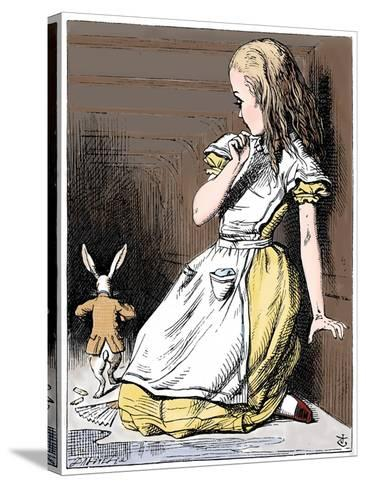 Scene from Alice's Adventures in Wonderland by Lewis Carroll, 1865-John Tenniel-Stretched Canvas Print