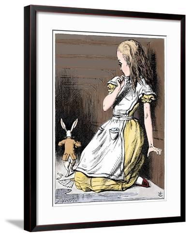 Scene from Alice's Adventures in Wonderland by Lewis Carroll, 1865-John Tenniel-Framed Art Print