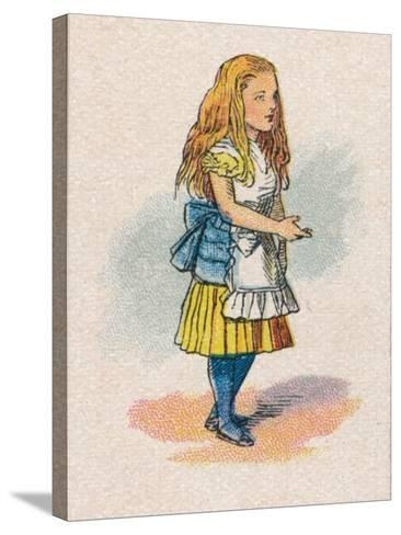 Alice and the Thimble, 1930-John Tenniel-Stretched Canvas Print
