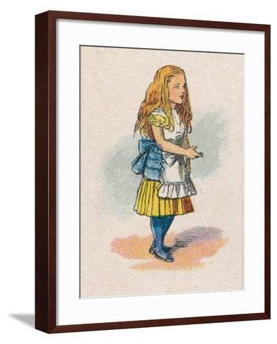 Alice and the Thimble, 1930-John Tenniel-Framed Art Print