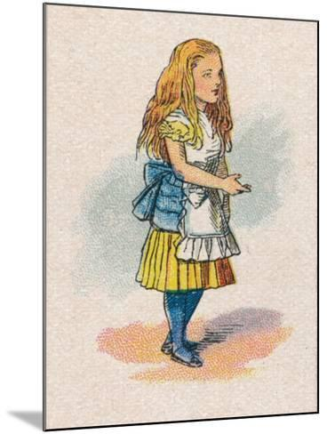 Alice and the Thimble, 1930-John Tenniel-Mounted Giclee Print