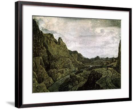 Rocky Valley with a Road, 17th Century-Hercules Seghers-Framed Art Print