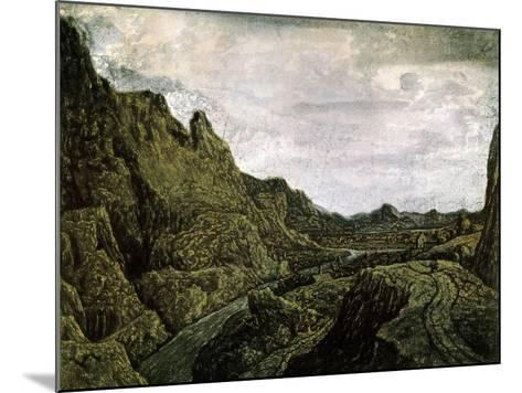 Rocky Valley with a Road, 17th Century-Hercules Seghers-Mounted Giclee Print
