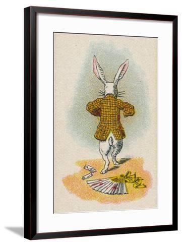 The Rabbit Running Away, 1930-John Tenniel-Framed Art Print