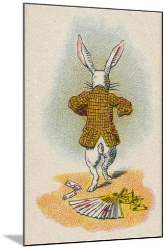 The Rabbit Running Away, 1930-John Tenniel-Mounted Giclee Print