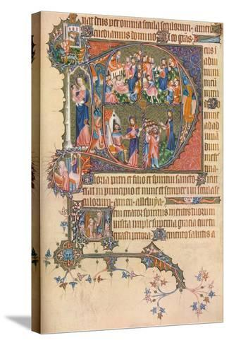 A Page from the Egerton Bohun Psalter-Hours, 1937--Stretched Canvas Print
