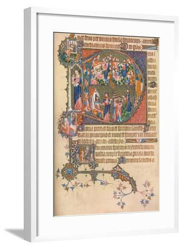 A Page from the Egerton Bohun Psalter-Hours, 1937--Framed Art Print