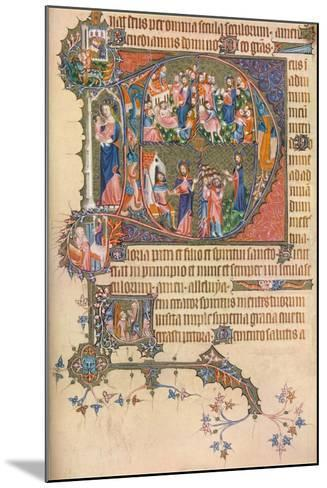 A Page from the Egerton Bohun Psalter-Hours, 1937--Mounted Giclee Print