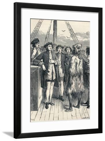 Alexander Selkirk Brought on Board, 1904--Framed Art Print
