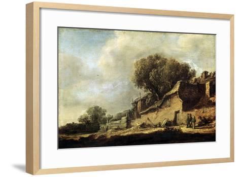 Landscape with a Peasant Cottage, 1631-Jan Van Goyen-Framed Art Print