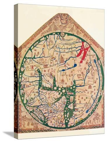 The Hereford Mappa Mundi, (C128), 1912-Richard de Bello-Stretched Canvas Print