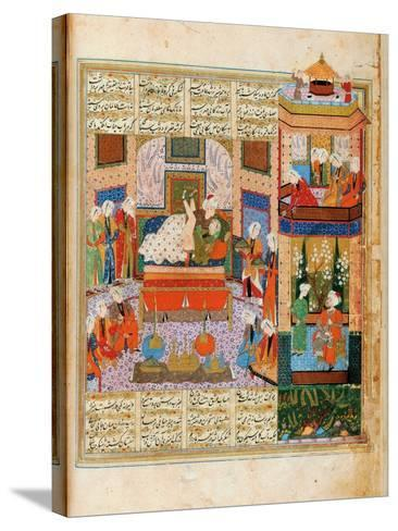 The Consummation of the Marriage Between Khusraw and Shirin--Stretched Canvas Print