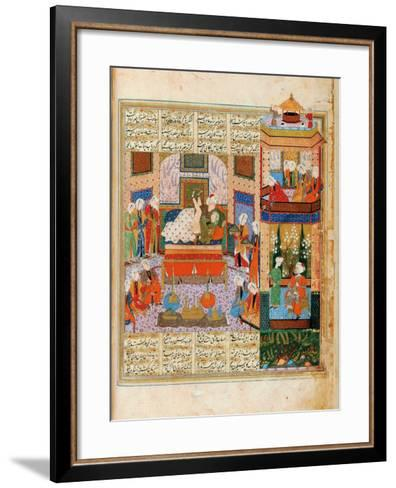 The Consummation of the Marriage Between Khusraw and Shirin--Framed Art Print