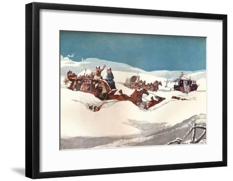 The Holyhead and Chester Mails, 1905-Robert Havell the Younger-Framed Art Print