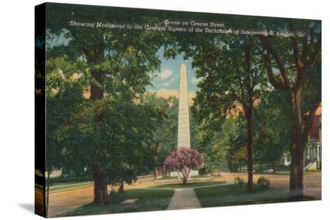 Greene Sreet, Looking East from Center Street, Augusta, Georgia, America, C1910--Stretched Canvas Print