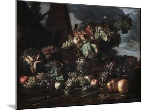 Still Life with Grapes, 17th Century-Michelangelo Pace del Campidoglio-Mounted Giclee Print
