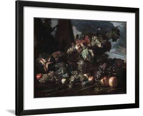 Still Life with Grapes, 17th Century-Michelangelo Pace del Campidoglio-Framed Art Print
