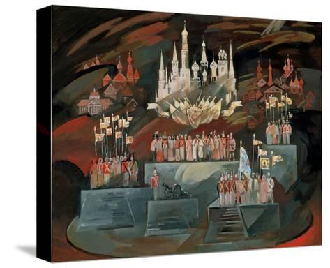 Stage Design for the Opera War and Peace by S. Prokofiev, 1981-Nikolai Nikolayevich Zolotaryev-Stretched Canvas Print