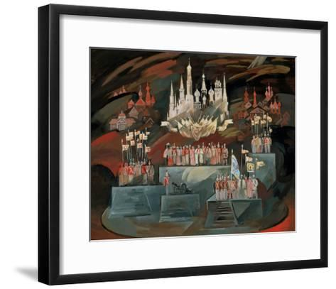 Stage Design for the Opera War and Peace by S. Prokofiev, 1981-Nikolai Nikolayevich Zolotaryev-Framed Art Print