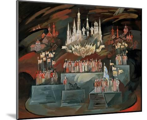Stage Design for the Opera War and Peace by S. Prokofiev, 1981-Nikolai Nikolayevich Zolotaryev-Mounted Giclee Print