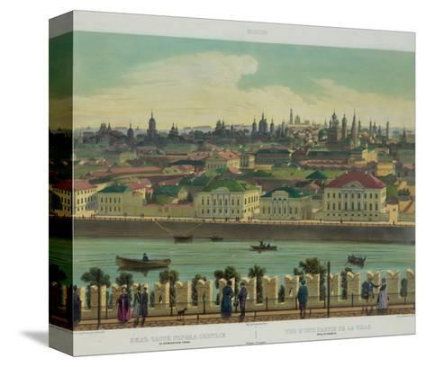 View of Zamoskvorechye from the Kremlin Wall (From a Panoramic View of Moscow in 10 Part), Ca 1848-Philippe Benoist-Stretched Canvas Print