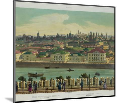 View of Zamoskvorechye from the Kremlin Wall (From a Panoramic View of Moscow in 10 Part), Ca 1848-Philippe Benoist-Mounted Giclee Print