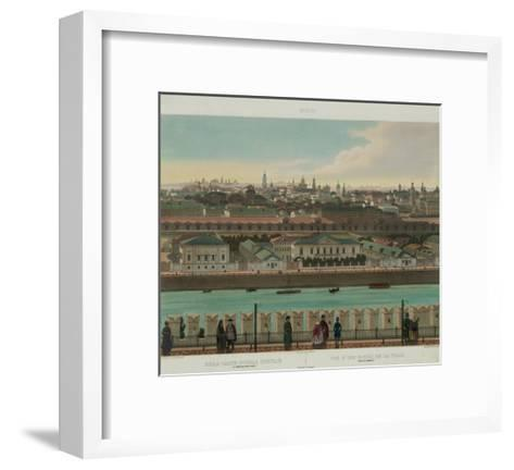 View of Zamoskvorechye from the Kremlin Wall (From a Panoramic View of Moscow in 10 Part), Ca 1848-Philippe Benoist-Framed Art Print