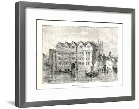 Cold Harbour. Medieval Mansion House North Bank Ofthames Above London Bridge, 1894-Walter Thornbury-Framed Art Print