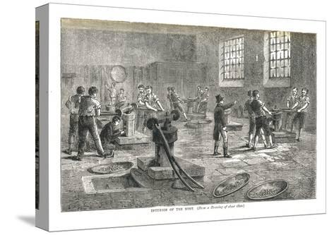 The Interior of the Mint from a Drawing of About 1800, 1878-Walter Thornbury-Stretched Canvas Print