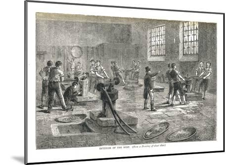 The Interior of the Mint from a Drawing of About 1800, 1878-Walter Thornbury-Mounted Giclee Print