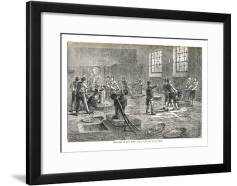 The Interior of the Mint from a Drawing of About 1800, 1878-Walter Thornbury-Framed Art Print