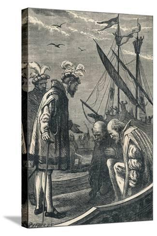 The King Visits Vasco Da Gama, 1904--Stretched Canvas Print
