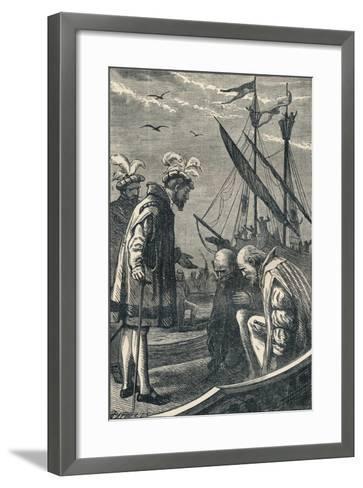 The King Visits Vasco Da Gama, 1904--Framed Art Print